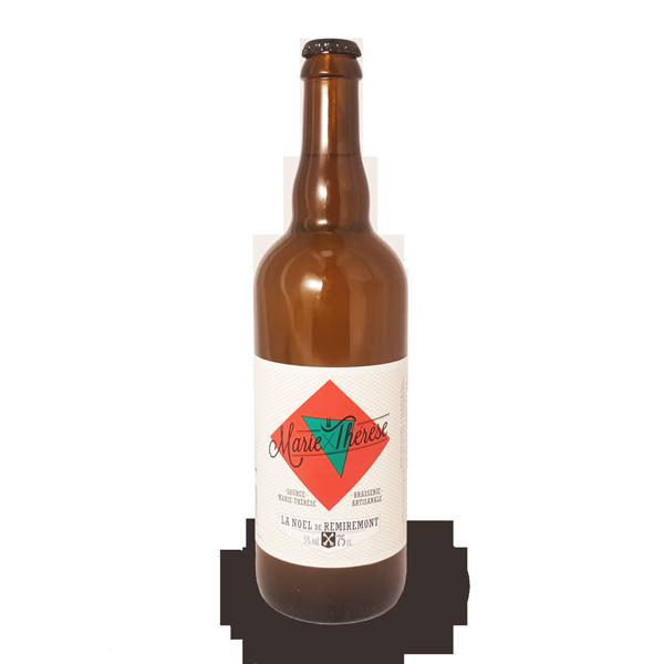 La bière de Noël Marie-Thérèse, bière artisanale brassée à Remiremont dans les Vosges