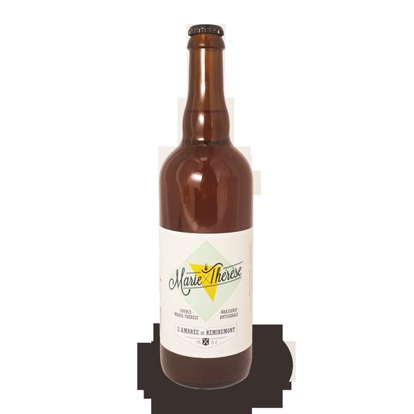 La bière ambrée Marie-Thérèse, bière artisanale brassée à Remiremont dans les Vosges