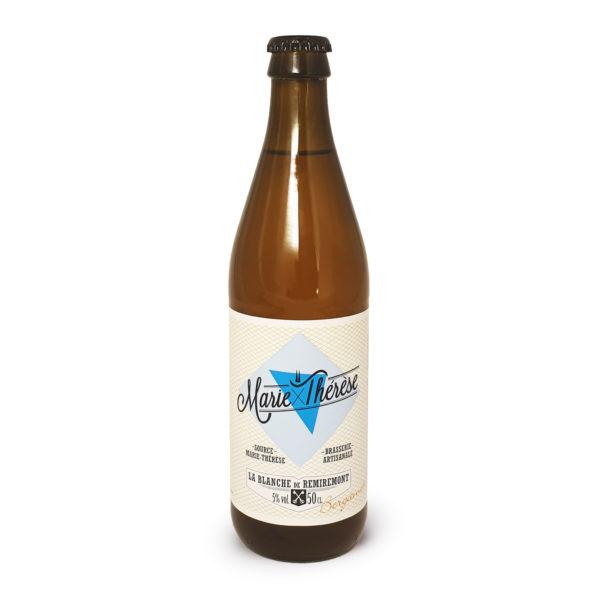 Marie-Thérèse blanche bergamote, bière artisanale en bouteille de 50cl