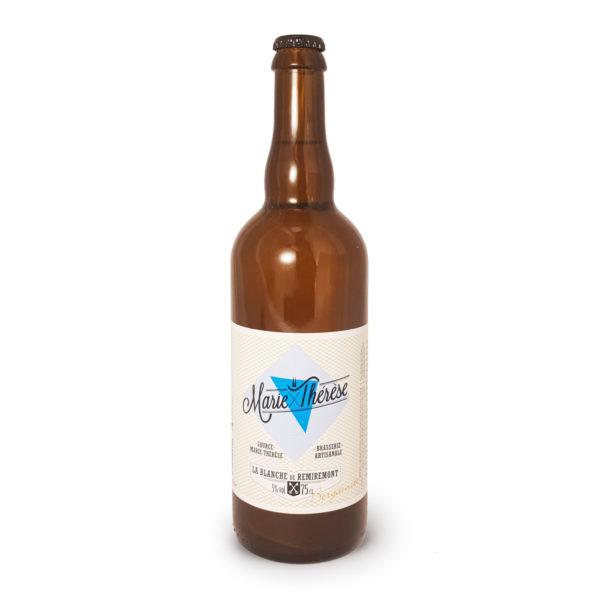Marie-Thérèse blanche bergamote, bière artisanale en bouteille de 75cl