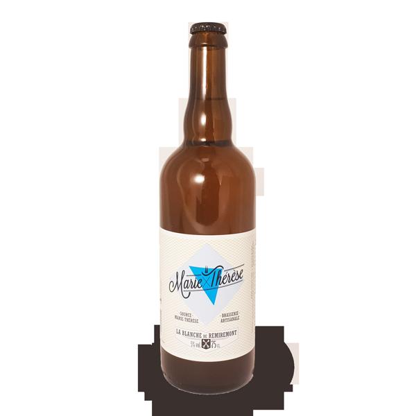 La bière blanche à la bergamote à la brimbelle Marie-Thérèse, bière artisanale brassée à Remiremont dans les Vosges