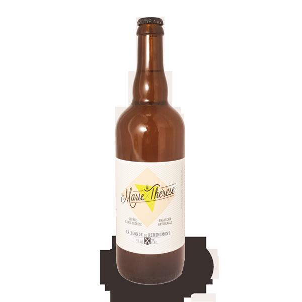 La bière blonde à la brimbelle Marie-Thérèse, bière artisanale brassée à Remiremont dans les Vosges