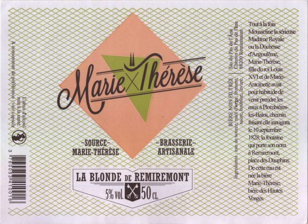 Étiquette La blonde de Remiremont