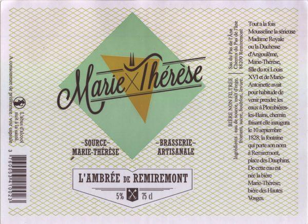 Étiquette L'ambrée de Remiremont