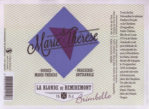 Étiquette La blonde de Remiremont à la brimbelle