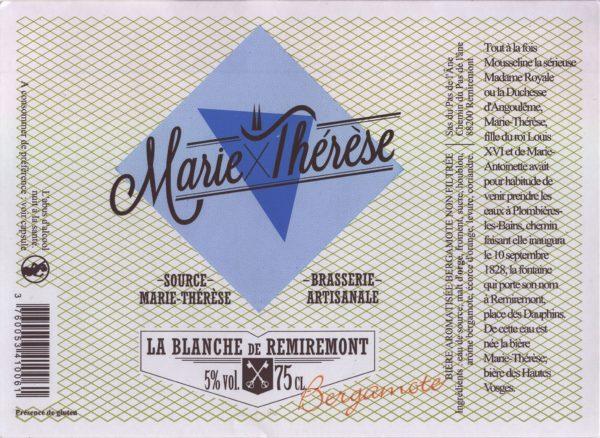 Étiquette La blanche de Remiremont à la bergamote
