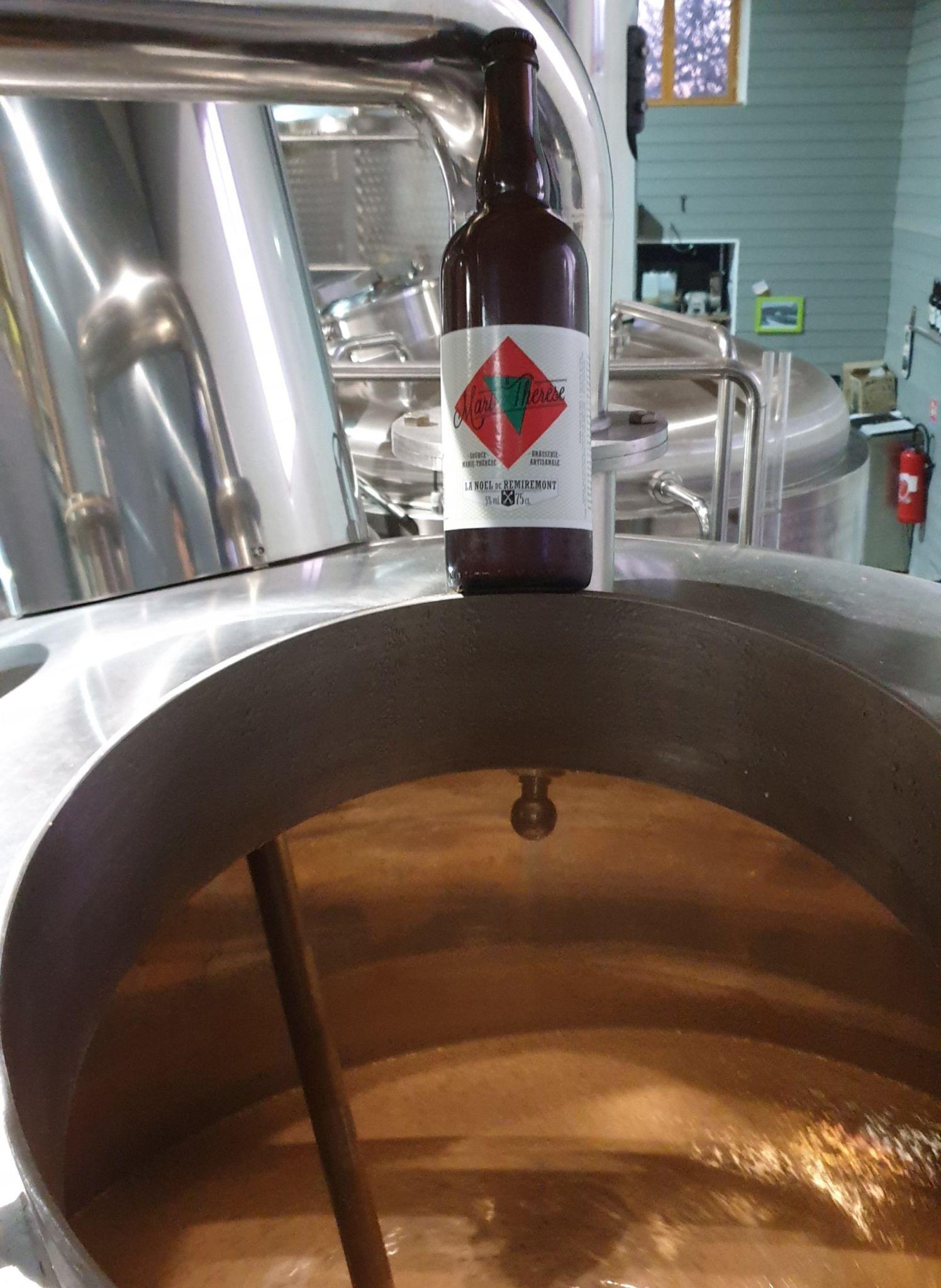 Bière de noël au dessus de la cuve