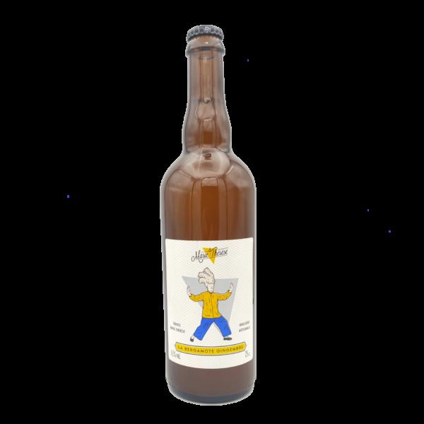 La bière blanche à la bergamote et au gingembre en bouteille de 75cl